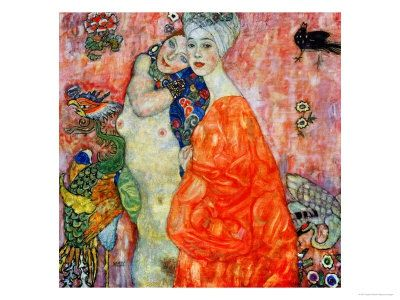 gustav-klimt-girlfriends-1916-1917