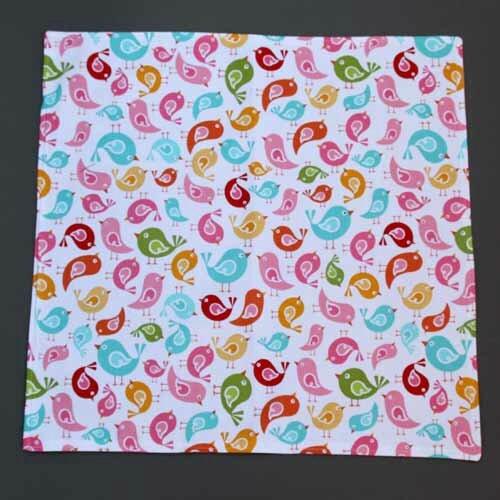 Nouveau : Grande serviette de table oiseaux pour enfants Lilooka
