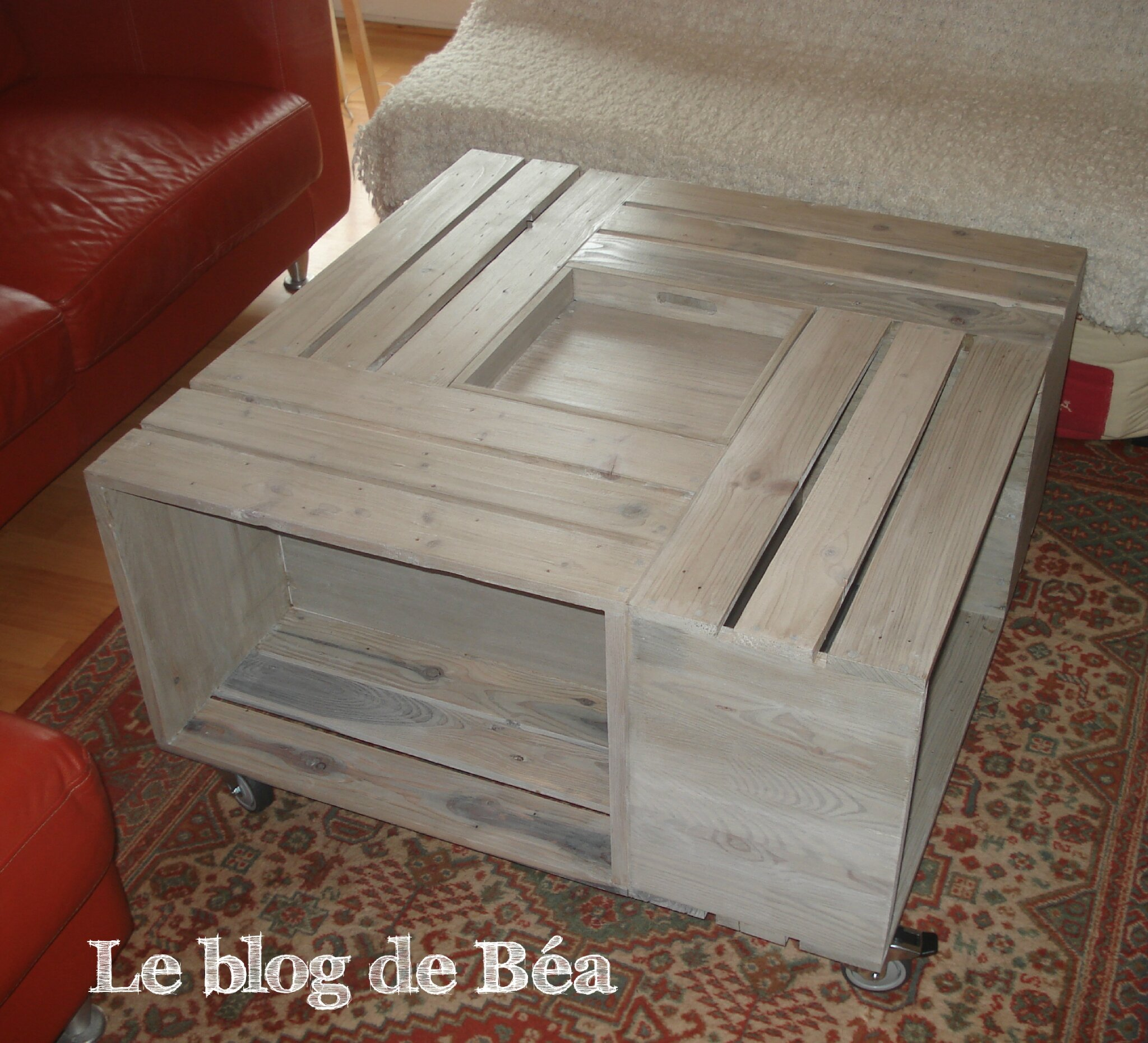 Diy table basse bar photo de 1 meubles en bois de - Fabriquer une table de salon ...
