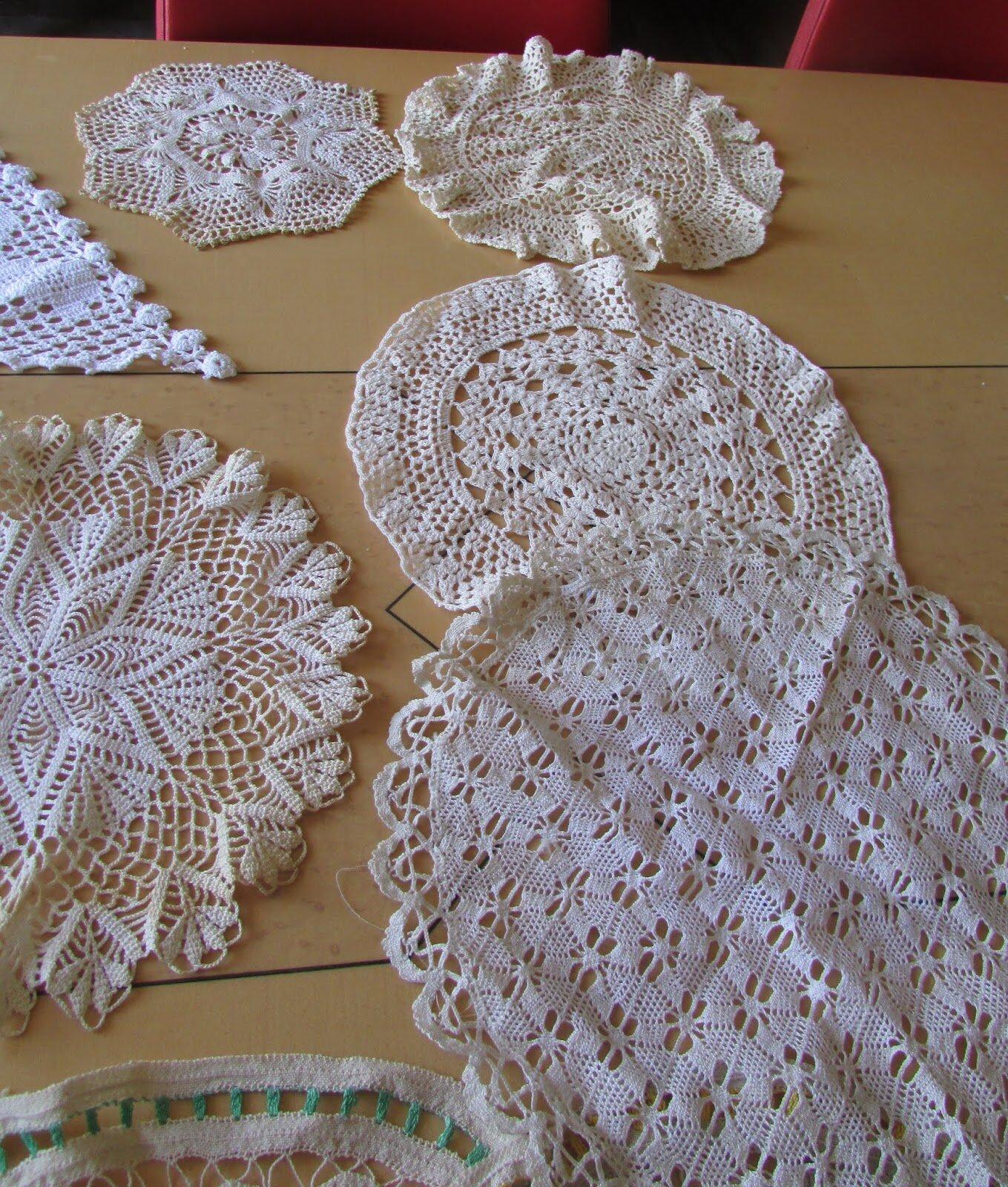 Napperon en crochet main lot de 13 napperons dentelles chantale poucel a montmorillon 86 - Napperon dentelle crochet ...