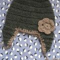 Bonnet crocheté pour une commande speciale