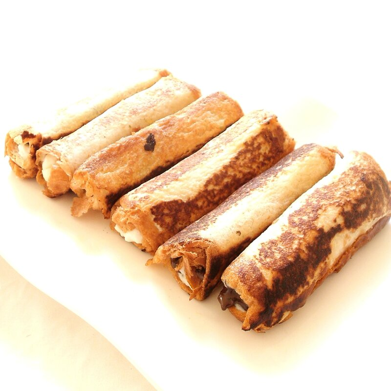 french toast rolls up ricotta chocolat2