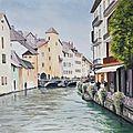 Annecy, les quais du thiou