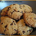 Cookies ppites de chocolat/beurre de cacahutes