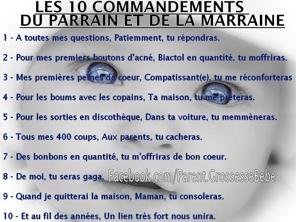 10 commandements un peu de tout ma famille - Mes parrain son magic ...