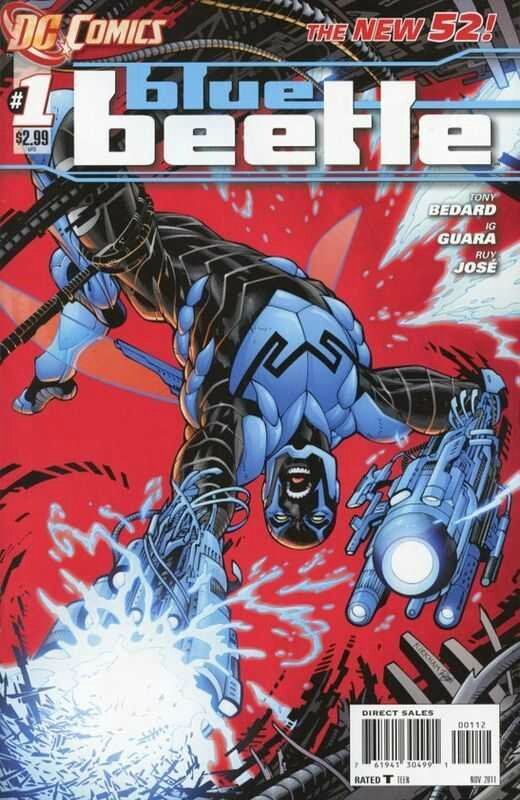 new 52 blue beetle 01 2nd print