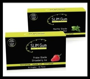 time nutrition slim gum fraise menthe