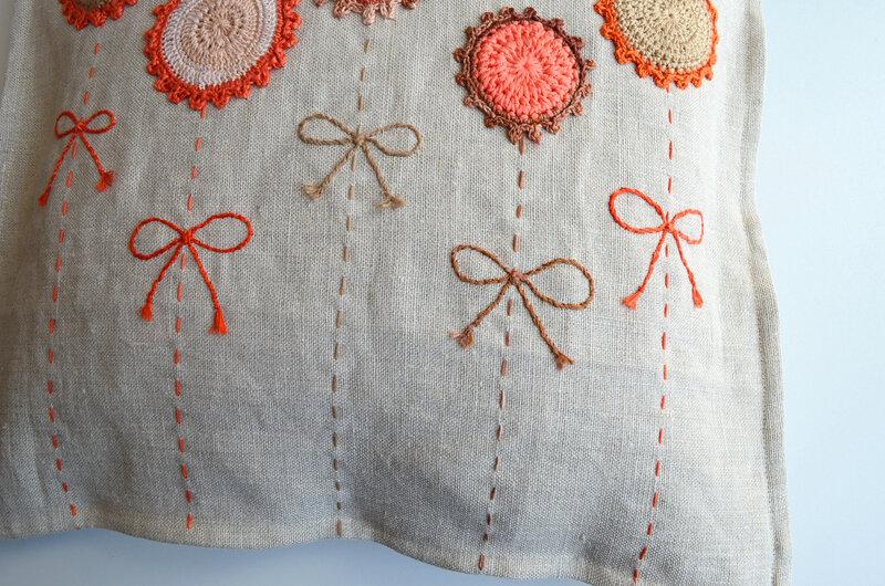 Coussin lin et crochet-la chouette bricole (4)