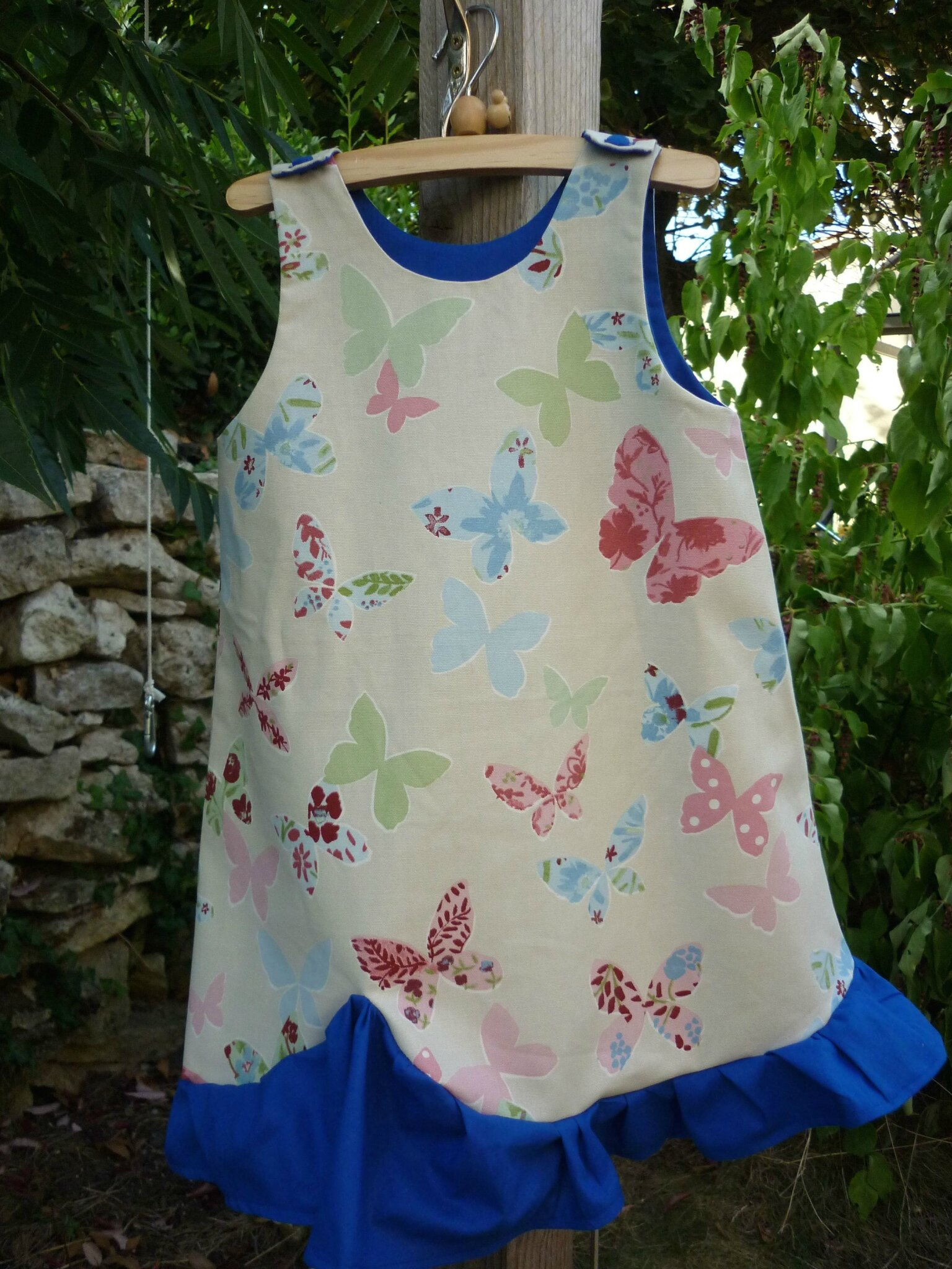 Robe trapèze papillons (taille 4 ans)
