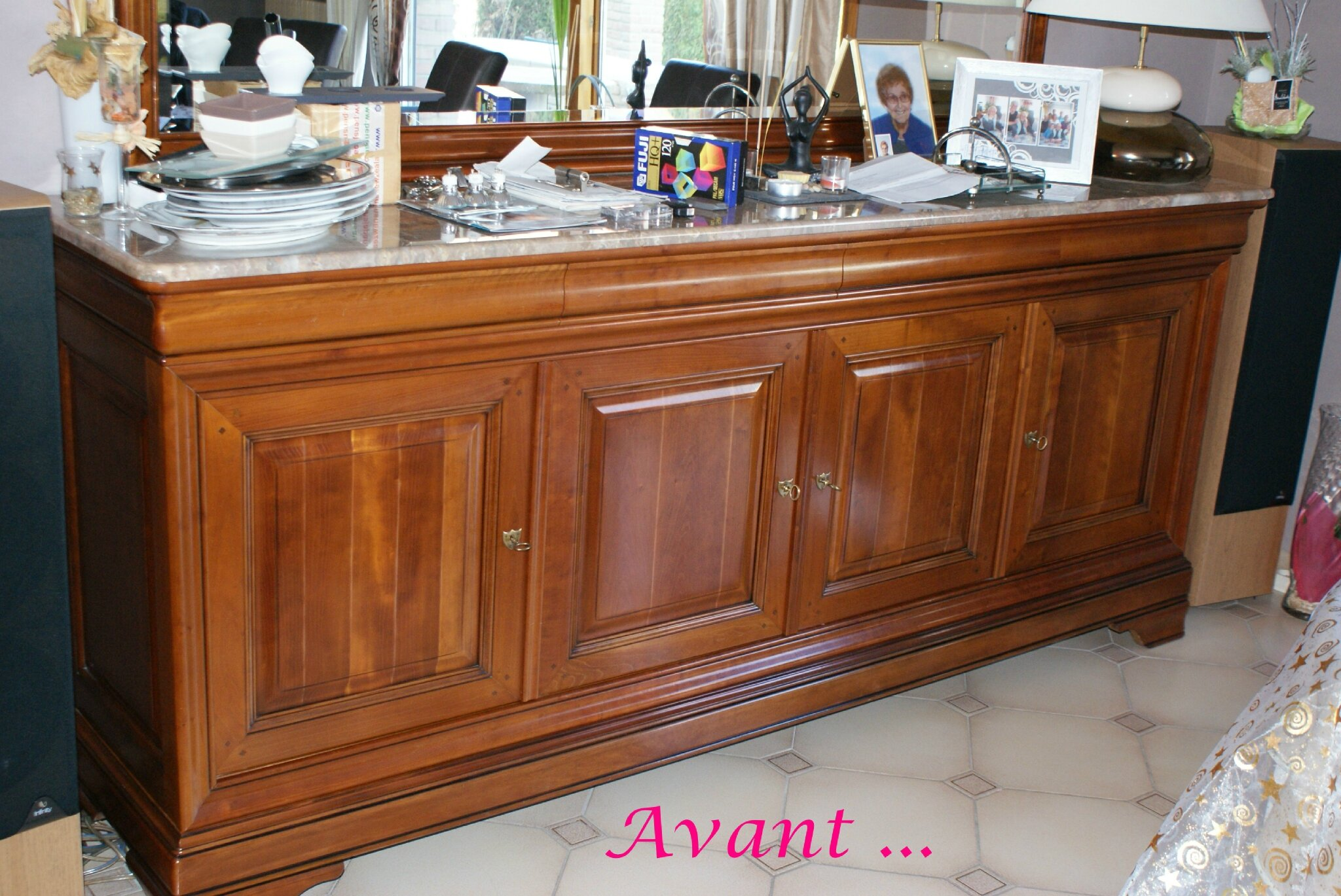 salle manger en merisier relook e patines couleurs. Black Bedroom Furniture Sets. Home Design Ideas