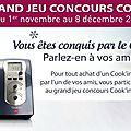 Grand jeu concours cook'in
