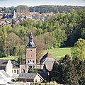 78 - Terril du 6 - Hornu-Wasmes - panorama Abbaye de la Court