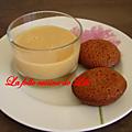 Mini gâteau au carambar et crème anglaise au caramel