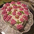 Mon gâteau mousseline aux pêches et abricots de noël ! un délice moelleux et léger en bouche !!!