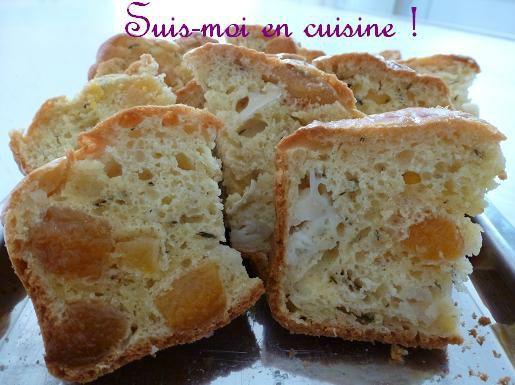 Cake abricots chèvre thym
