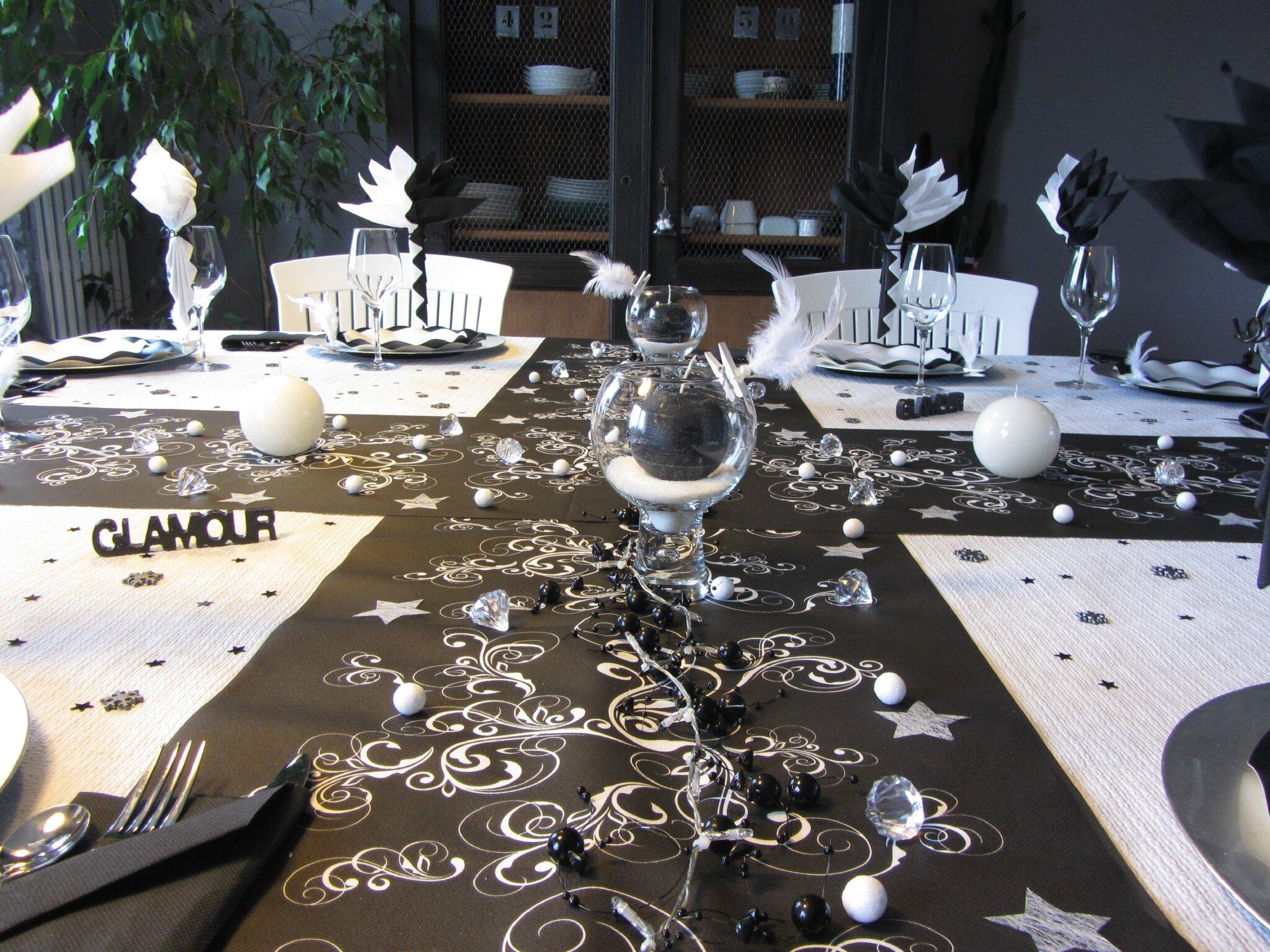 Ma table de no l en noir et blanc art r cup 39 - Image de noel en noir et blanc ...