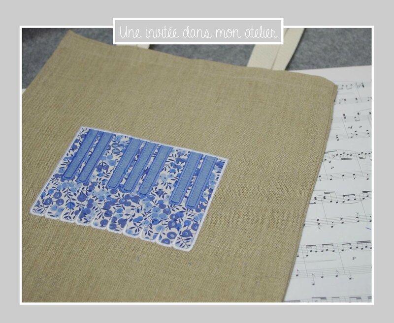 tote bag-piano-Liberty-wiltshire bleu