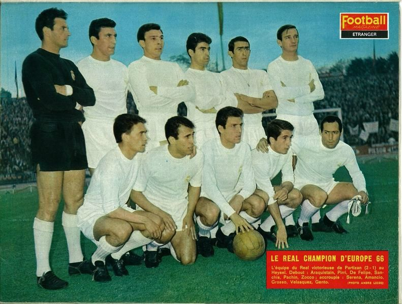 Real Madrid vs Partizan Belgrade 2-1 (11 Mai 1966)