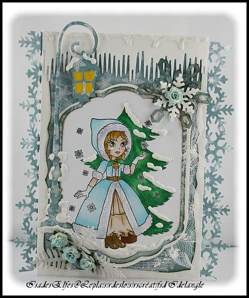 "Carte ""Ashton with falling snowflakes """