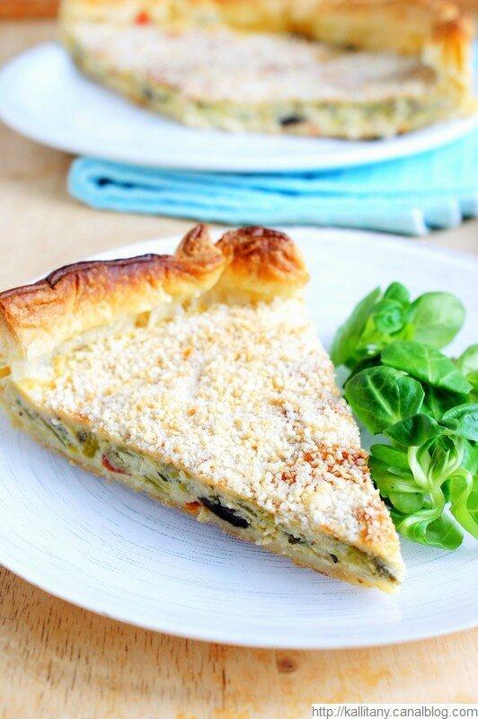 Blog Kallitany - recette tarte au poireaux et champignons (8)