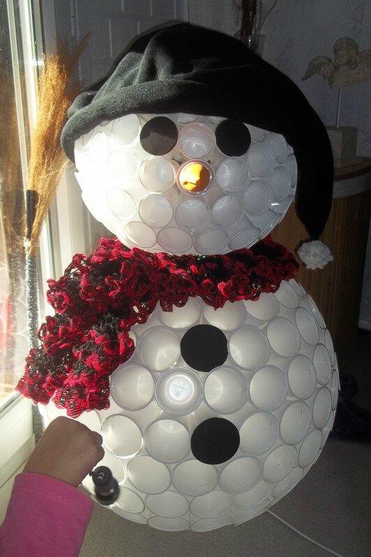 Exceptionnel Bonhomme de neige avec des gobelets en plastique - Cidi et le  JL66