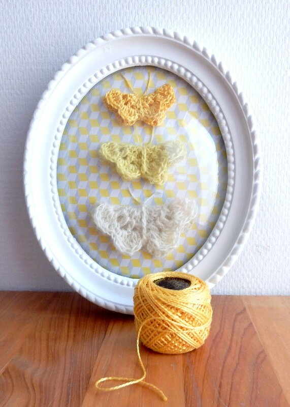 collection de papillons - Crochet déco - Anisbee