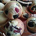 Muffins ultra moelleux au mascarpone et aux fruits rouges frais
