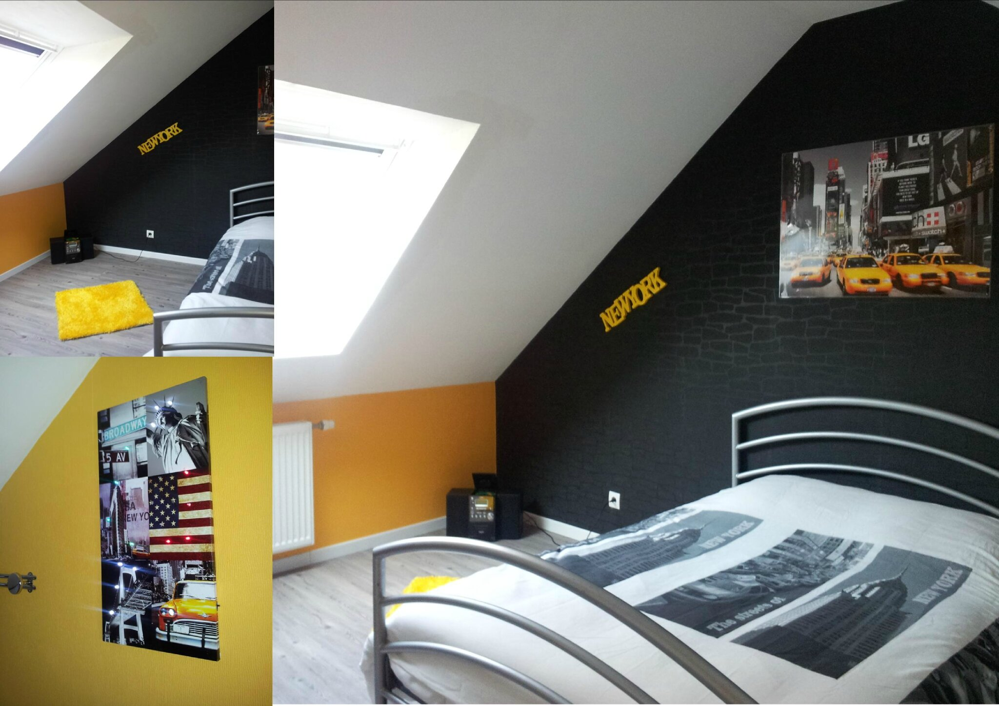 D co chambre taxi new york for Idee decoration chambre ado new york