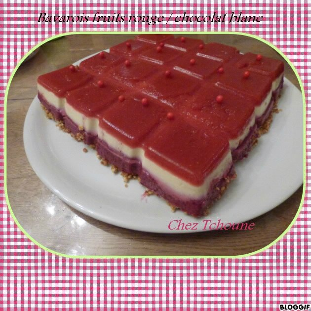 Bavarois fruits rouges chocolat blanc thermomix blogs - Blog cuisine thermomix ...