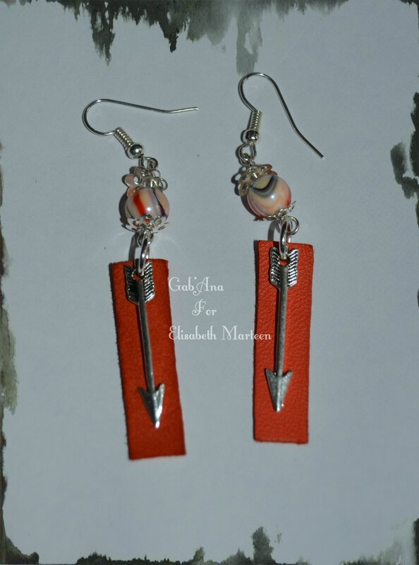 Boucles cuir orange