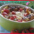 CLAFOUTIS AUX TOMATES CERISES ET AU CHVRE