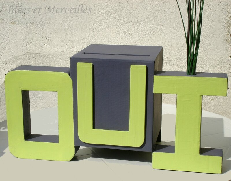 d coration de mariage vert anis et gris anthracite idees et merveilles. Black Bedroom Furniture Sets. Home Design Ideas