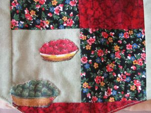 gilet talisman détail tartes fruits