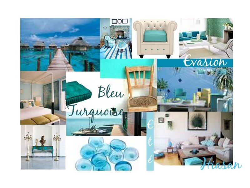 Planche ambiance Turquoise
