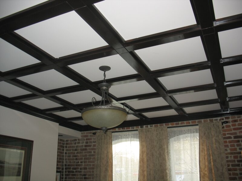 plafond a caisson photo de job des rables partie 2. Black Bedroom Furniture Sets. Home Design Ideas