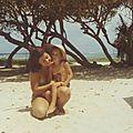 Ste Anne avec le petit Laurent Fiquet- Guadeloupe 75-76-114