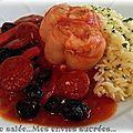 Paupiettes au chorizo - poivron - olives