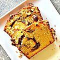 Cake à l'orange marbré à la purée de noisettes, sans lactose