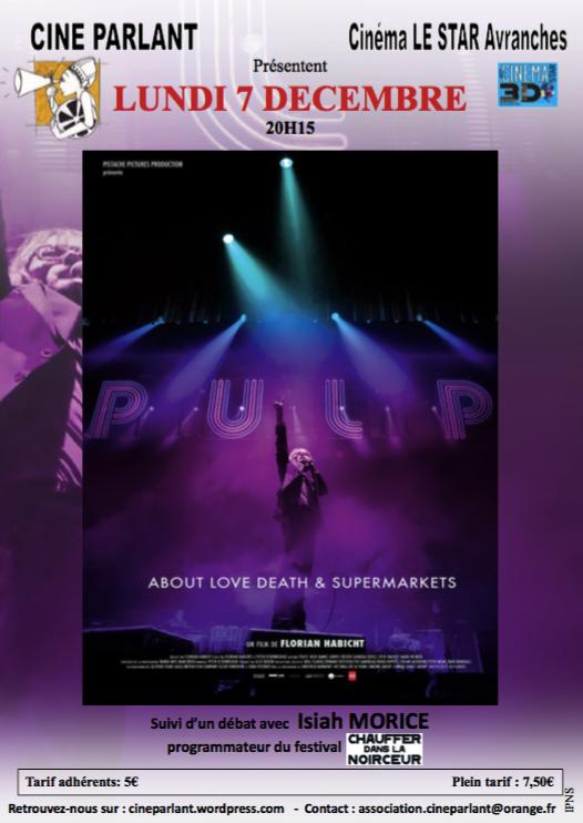 film documentaire Pulp Avranches ciné-débat décembre 2015 affiche Isiah Morice CDLN