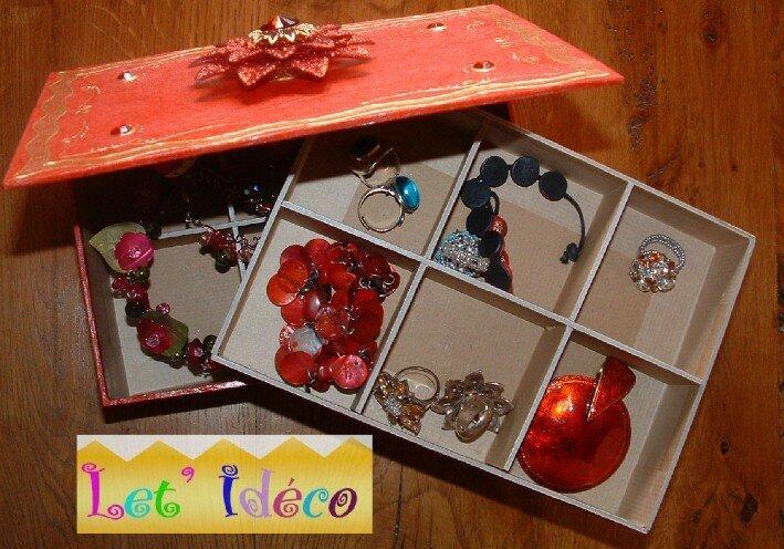 Boite bijoux en carton le blog de let 39 ideco - Boite en carton decoree ...