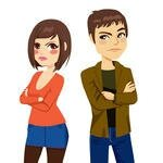 young-couple-angry-turning-their-backs-on-each-other-after-quarrel-looking-with-frustrated-look_179206898