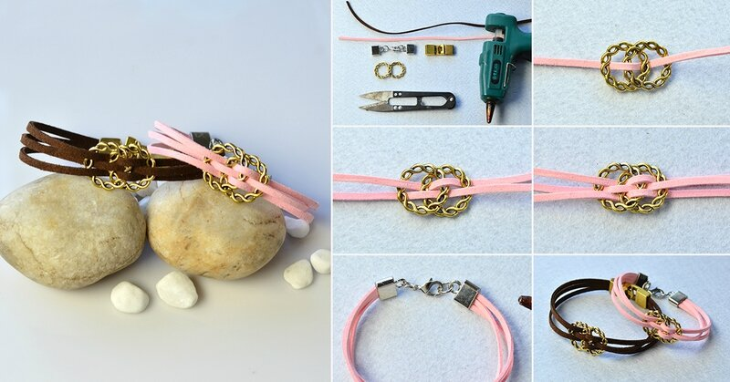 1200-Valentine's-Day-DIY-Project---How-to-Make-a-Pair-of-Pink-and-Brown-Suede-Cord-Bracelets-for-Lovers