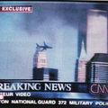 29. Image d'écran de télévision, TF1, 11 septembre 2001.