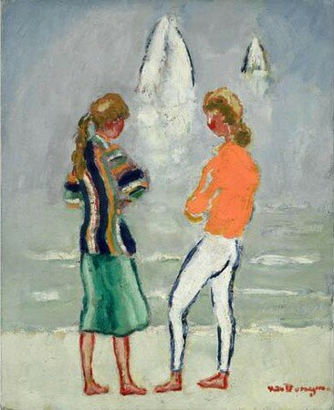 Deux_jeunes_filles_sur_la_plage_de_Kees_Van_Dongen