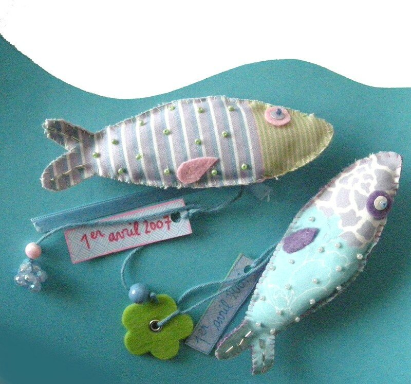 broches poissons d'avril