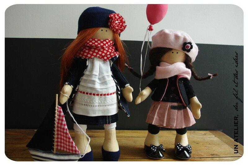 deux poupées tilda