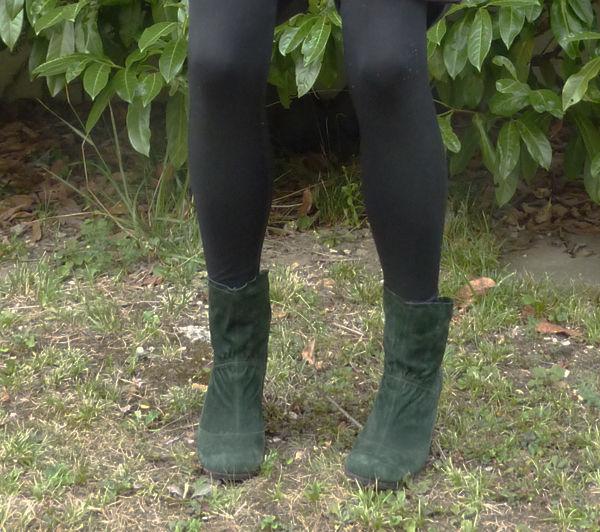 dernières tendances où acheter riche et magnifique Bottines vertes en daim - Ma Biche le Blog