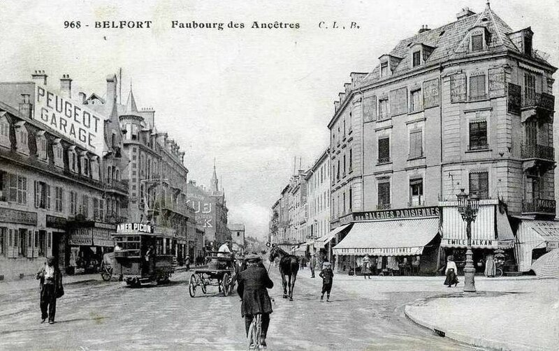 Belfort CPA Faubourg Ancêtres