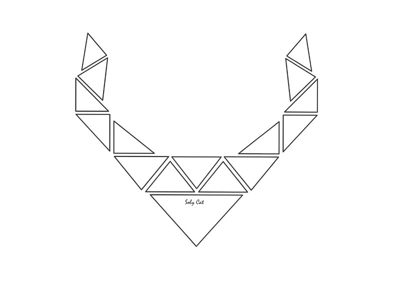 SOLY CAT - Template - Gabarit Collier Triangles