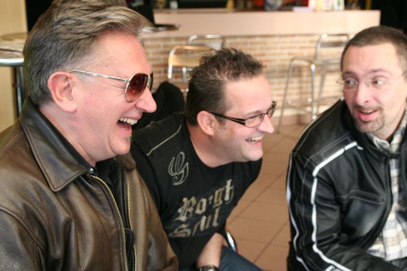 B. Delépine et G. Kerven avec les Goodyear